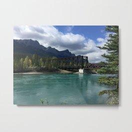 Bow River Engine Bridge - Canmore, Canada  Metal Print