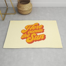 Here Comes The Sun | Retro 70s Typography Rug