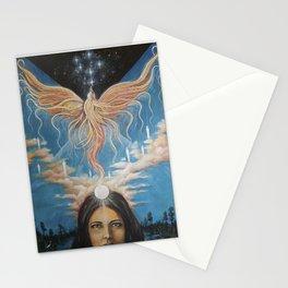 Ascension // Visionary Art Phoenix Spirit Soul Consciousness Spiritual Chakra Awakening Lightworker Stationery Cards