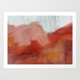 Desert Journey [2]: a textured, abstract piece in pinks, reds, and white by Alyssa Hamilton Art Kunstdrucke