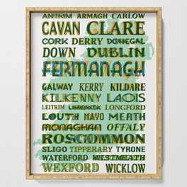 32 Counties Of Ireland Serving Tray