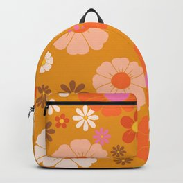 Groovy Mod 60's Flower Power Backpack