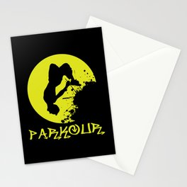 Parkour Runner Stationery Cards