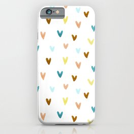 Watercolor Marks Pattern | Teal and Orange iPhone Case