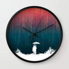 Meteoric rainfall Wall Clock