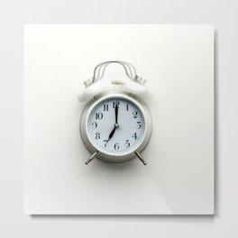 White alarm clock Metal Print