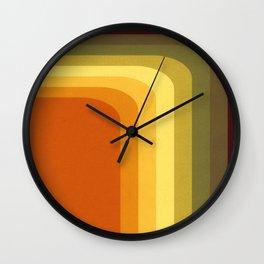 70's Minimal Groovy Stripes Wall Clock