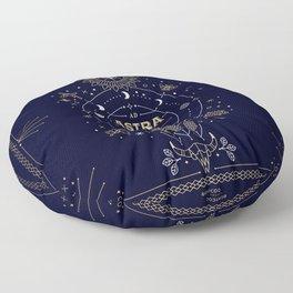 Ad Astra Per Aspera Floor Pillow