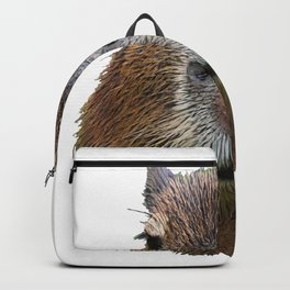 Capybara Face Hairy Front Classy Axpect Mammal Backpack