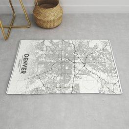 Minimal City Maps - Map Of Denver, Colorado, United States Rug