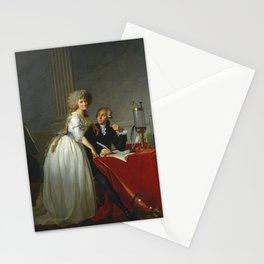 """Jacques-Louis David """"Portrait of Monsieur Lavoisier and His Wife"""" Stationery Cards"""