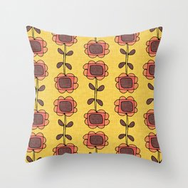 Mod Sunflower Yellow Throw Pillow