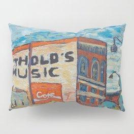 Downtown La Crosse, Wisconsin - Oil Painting Pillow Sham