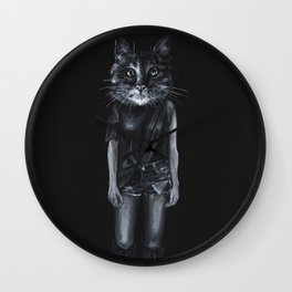 Cat-Rina Wall Clock