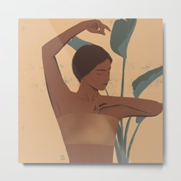 tropical golden Metal Print