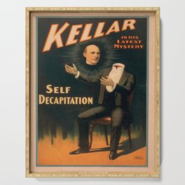 Vintage poster - Kellar the Magician, Self-Decapitation Serving Tray