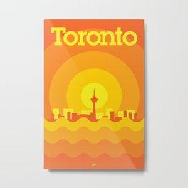 Toronto Minimalism Poster - Autumn Orange Metal Print