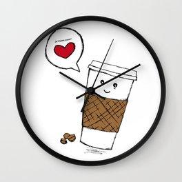 Coffee love you Wall Clock