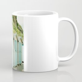 Duck Egg Blue and Cream Beach Huts Coffee Mug