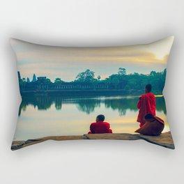 morning contemplation Rectangular Pillow