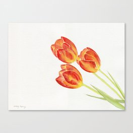Tulips Watercolor Canvas Print