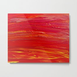 Shades of Red Metal Print
