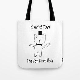 Cameron the Fat Faced Bear Tote Bag
