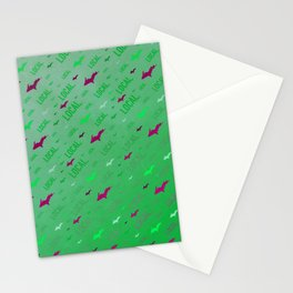 Local Upper Peninsula Of Michigan Watermelon Pattern Stationery Cards