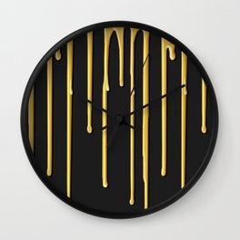 Liquid Gold Drip Wall Clock