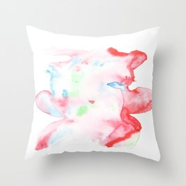 141203 Abstract Watercolor Block 75 Throw Pillow