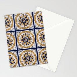 Elegant Tiles Neck Gator Tile Pattern Stationery Cards