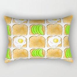 Toast pattern // Avocado toast // Egg toast // Breakfast pattern  Rectangular Pillow