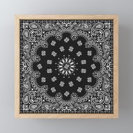 Bandana Black - Traditional Framed Mini Art Print