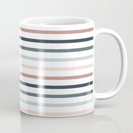boho stripes - dusty pink and jade Coffee Mug