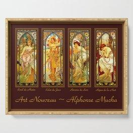 Vintage Art Nouveau - Alphonse Mucha Serving Tray