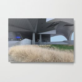 Grass and concrete Metal Print