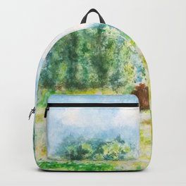 spring in Giverny Monet Claude Backpack