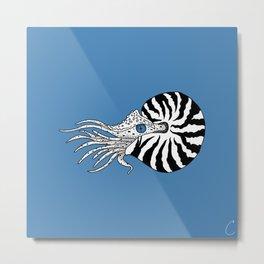 Nautilus Illustration Metal Print