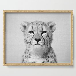 Cheetah - Black & White Serving Tray
