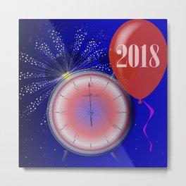 2018 Clock Metal Print