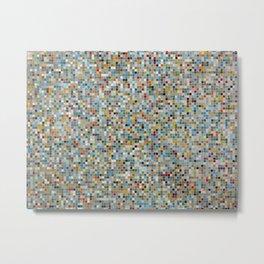 Square Mosaic Multi-coloured Tile Pattern (Photograph) Metal Print
