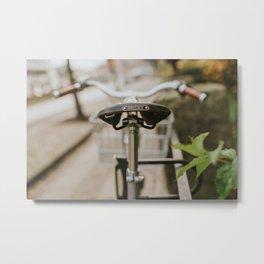 Brooks Bike in Gothenburg  Metal Print