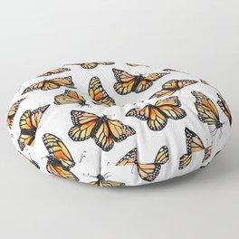 Watercolor Monarch Butterflies Floor Pillow