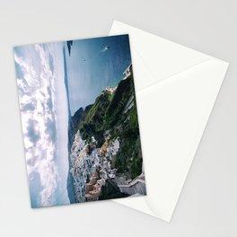 Santorini caldera Stationery Cards