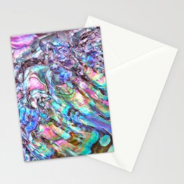 Shimmery Rainbow Abalone Mother of Pearl Stationery Cards