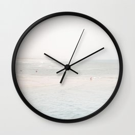 At the Seaside (three) Wall Clock