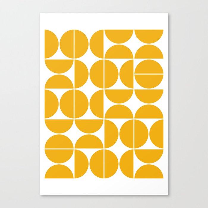 Mid Century Modern Geometric 04 Yellow Leinwanddruck