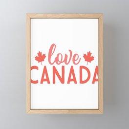 Love canada - Adventure Design Framed Mini Art Print