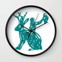 Jackalope - Texas - Southwesten Themed Pop Art Wall Clock