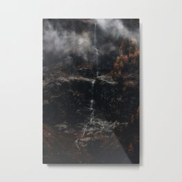 Dark Waterfall Metal Print